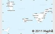 Silver Style Simple Map of Santa Cruz de Tenerife