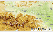 Physical 3D Map of La Rioja