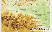 Physical Map of La Rioja