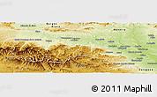 Physical Panoramic Map of La Rioja