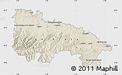 Shaded Relief Map of La Rioja, single color outside