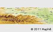 Physical Panoramic Map of La Rioja