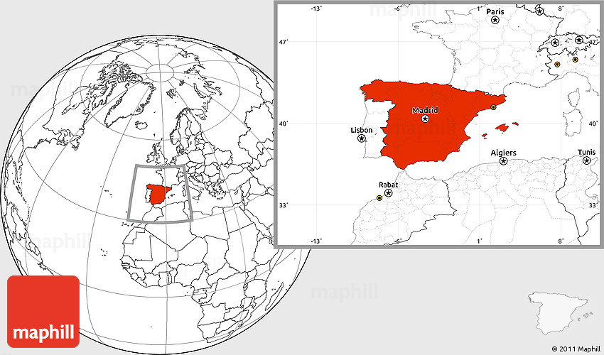Map Of Spain Blank.Blank Location Map Of Spain