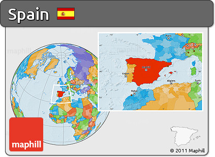 Amazing ... Political Location Map Of Spain