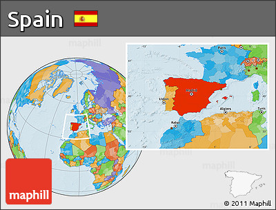 Political Location Map of Spain