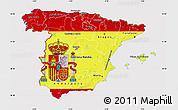 Flag Map of Spain, flag centered