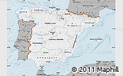 Gray Map of Spain