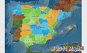 Political Map of Spain, darken