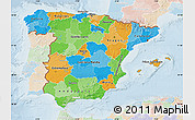 Political Map of Spain, lighten