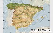 Satellite Map of Spain, lighten