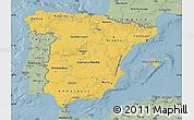 Savanna Style Map of Spain