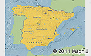 Savanna Style Map of Spain, single color outside