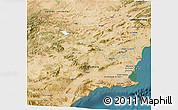 Satellite 3D Map of Murcia
