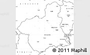 Blank Simple Map of Murcia