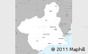 Gray Simple Map of Murcia