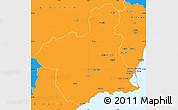 Political Simple Map of Murcia