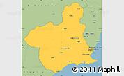 Savanna Style Simple Map of Murcia