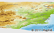 Physical Panoramic Map of Murcia