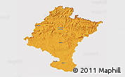 Political 3D Map of Navarra, cropped outside