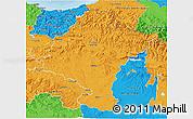 Political 3D Map of Navarra