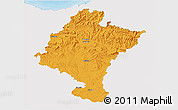 Political 3D Map of Navarra, single color outside