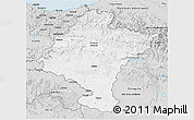Silver Style 3D Map of Navarra