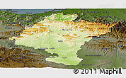 Physical Panoramic Map of Navarra, darken