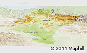 Physical Panoramic Map of Navarra, lighten