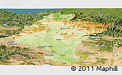 Physical Panoramic Map of Navarra, satellite outside