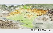 Physical Panoramic Map of Navarra, semi-desaturated