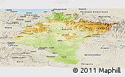 Physical Panoramic Map of Navarra, shaded relief outside