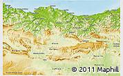 Physical 3D Map of País Vasco