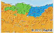 Political 3D Map of País Vasco