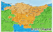 Political Shades 3D Map of País Vasco