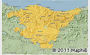Savanna Style 3D Map of País Vasco