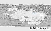 Gray Panoramic Map of Alava