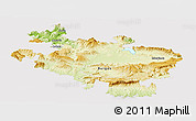 Physical Panoramic Map of Alava, cropped outside