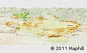 Physical Panoramic Map of Alava, lighten