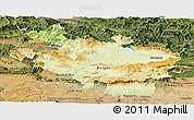 Physical Panoramic Map of Alava, satellite outside