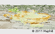 Physical Panoramic Map of Alava, semi-desaturated