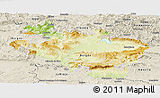 Physical Panoramic Map of Alava, shaded relief outside