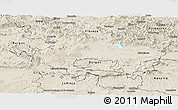 Shaded Relief Panoramic Map of Alava