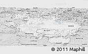 Silver Style Panoramic Map of Alava