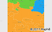 Political Simple Map of Alava