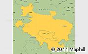 Savanna Style Simple Map of Alava