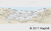 Classic Style Panoramic Map of Guipúzcoa