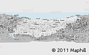Gray Panoramic Map of Guipúzcoa