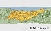 Savanna Style Panoramic Map of Guipúzcoa