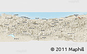 Shaded Relief Panoramic Map of Guipúzcoa