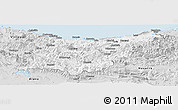 Silver Style Panoramic Map of Guipúzcoa